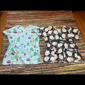 Other - Christmas scrub tops